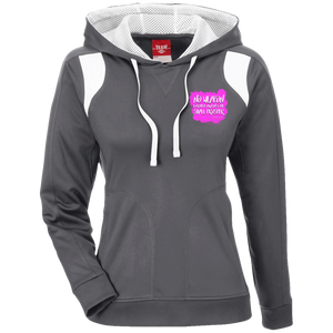 No Weapon Formed Against You Shall Prosper Women's Colorblock Poly Hoodie