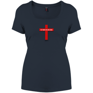 Fix Your Eyes on Jesus Women's Perfect Scoop Neck Tee