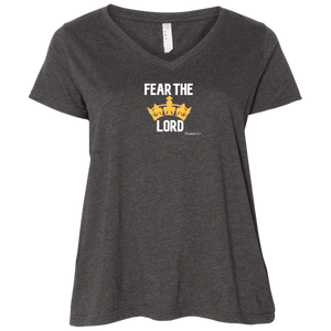 Fear the Lord Ladies Curvy V Neck Tee Shirt