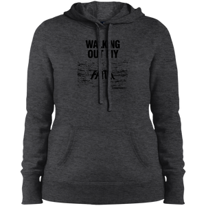 Walking Out My Faith Ladies Pullover Hooded Sweatshirt