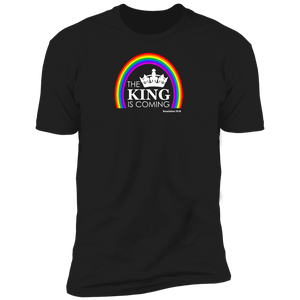 The King is Coming Men's Premium Short Sleeve Tee Shirt