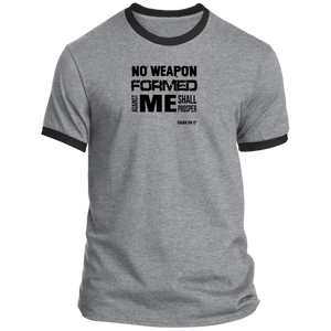 No Weapon Men's Ringer Tee