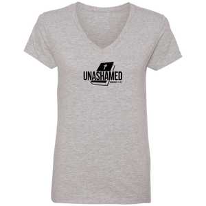 Unashamed Ladies V Neck Tee Shirt