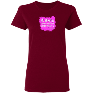 No Weapon Formed Against You Shall Prosper Ladies 5.3 0z Tee Shirt
