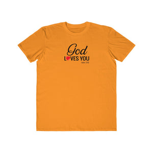 God Loves You Men's Lightweight Fashion Tee