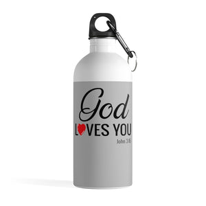 God Loves You Stainless Steel Water Bottle