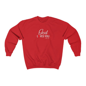God Loves You Women Unisex Heavy Blend™ Crewneck Sweatshirt