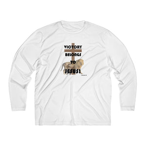 Victory Belongs to Jesus Men's Long Sleeve Moisture Absorbing Tee