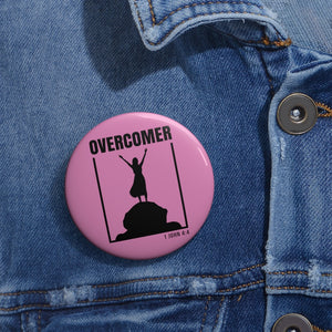 Overcomer Custom Pin Buttons