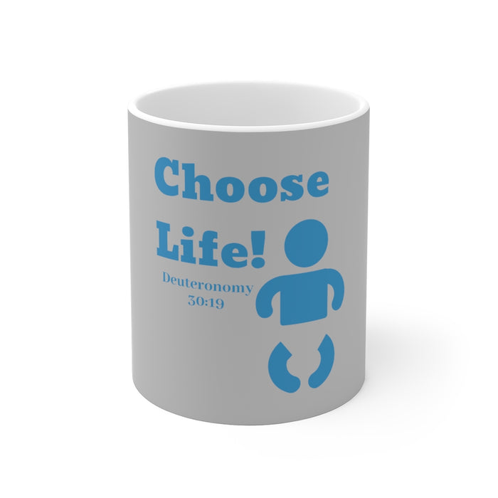 Choose Life White Ceramic Mug