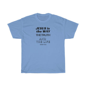 Jesus is the Way Men Unisex Heavy Cotton Tee