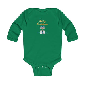 Merry Christmas Infant Long Sleeve Bodysuit