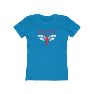 God Will Give His Angels Charge Over You Women's The Boyfriend Tee