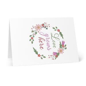 Love Grows Here Greeting Cards (8 pcs)