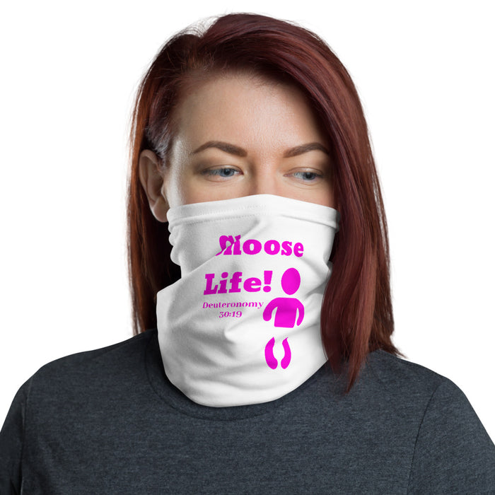 Choose Life Neck Gaiter