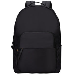 Black School Backpack for Women or Girls, Waterproof and Lightweight