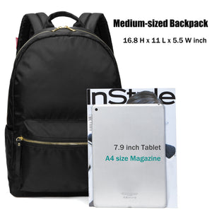 Basic Casual Backpack for Womens with Side Pockets, Lightweight, 20 Liters