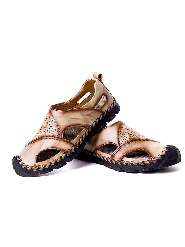 2019 New Retro Breathable Casual Handmade Leather Sandals