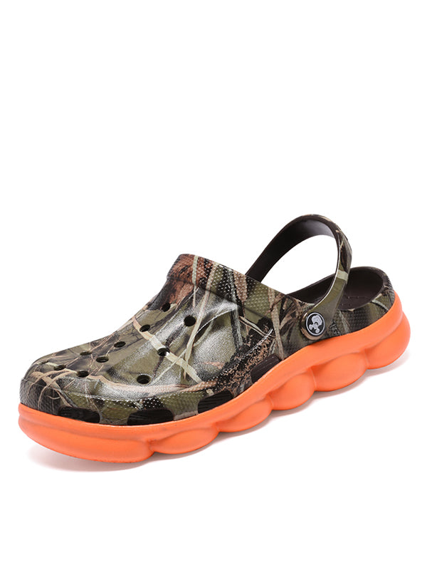 2019 Fashion Camouflage Non-Slip Hole Sandals