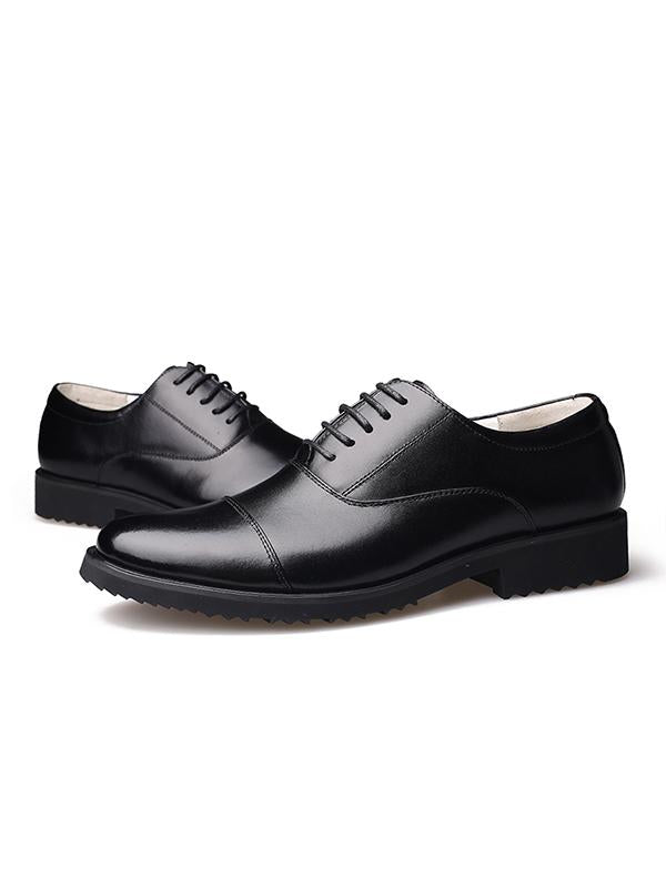 Business Dress Round Head Lace-up Shoes