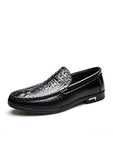 Crocodile Pattern Handmade Business Casual Shoes
