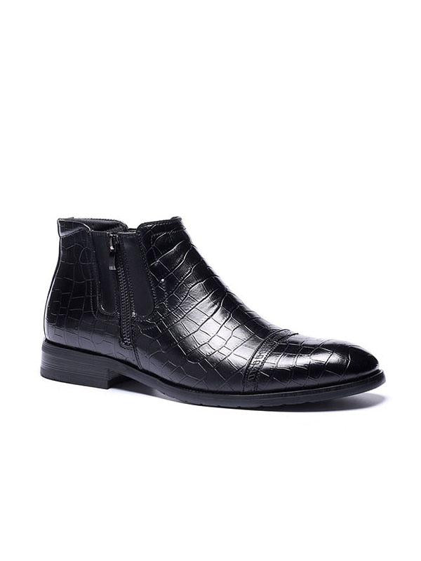 2019 Spring New Crocodile Zipper Men's Boots