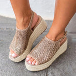 Thick-Bottom Hemp Rope Large Size Sandals