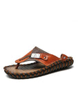 Casual Leather Beach Slippers