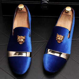 2019 New Gold Tiger Head Buckle Casual Single Shoes