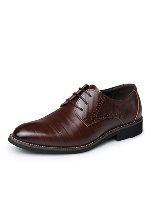 Bullock Business Pointy Pointed Leather Shoes
