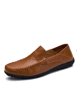 Breathable Leather Casual Peas Shoes