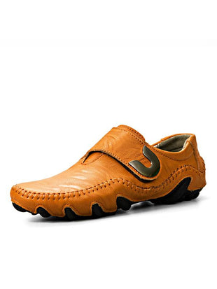 Fashion Leather Buckle Loafers