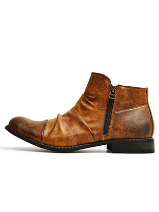 Retro-Erased Casual Ankle Boots