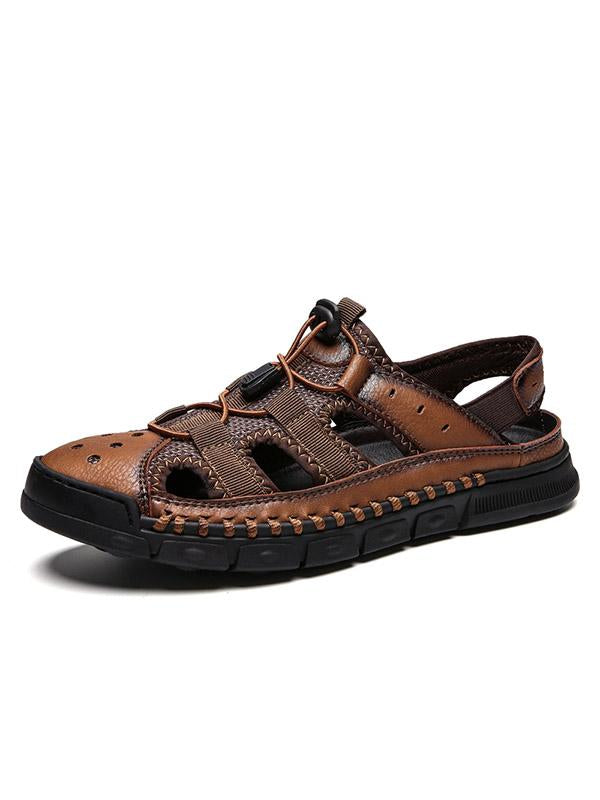 2019 New Breathable Handmade Casual Leather Sandals