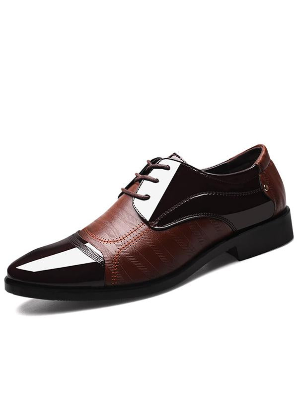 Business Pointed Lace-up Shoes