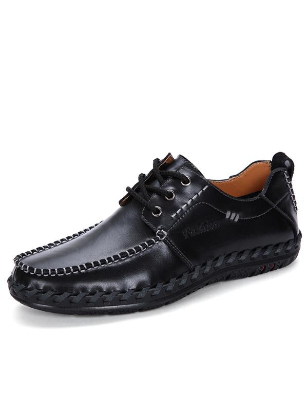 Fashion Leather Lace-up Casual Shoes