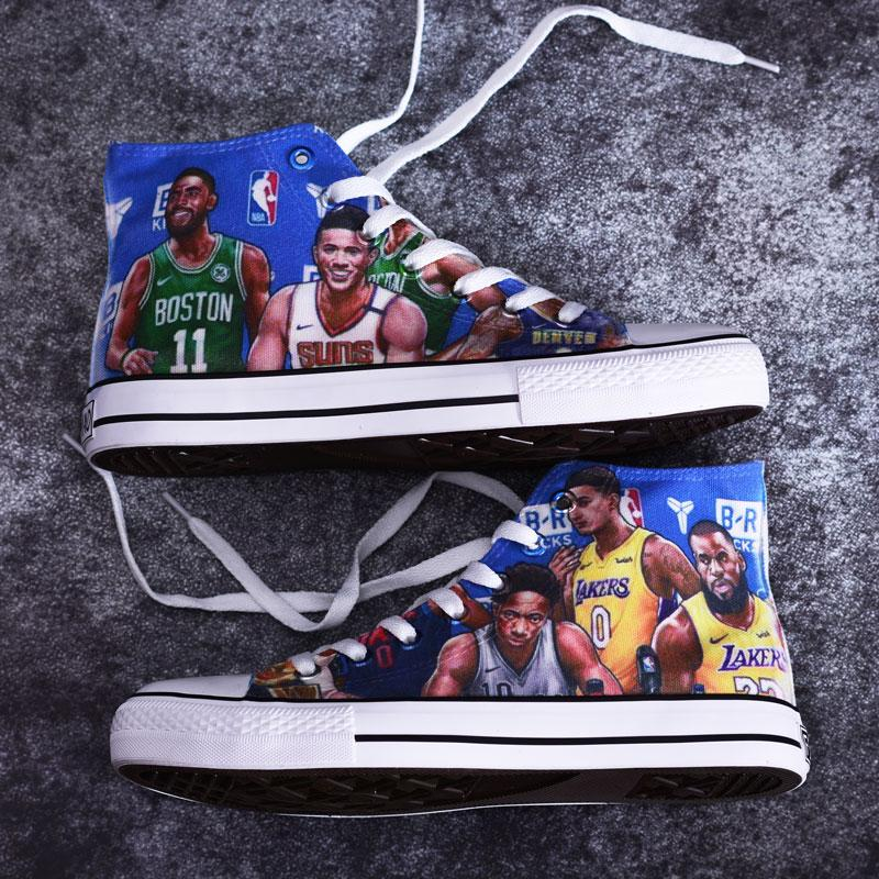 2019 New All-Star Graffiti Hand-Painted Shoes