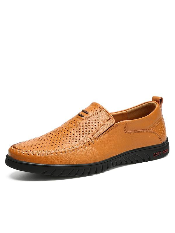 2019 Breathable Soft Sole Handmade Leather Casual Shoes