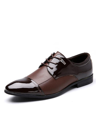 Fashion Business Bright Leather Men's Shoes
