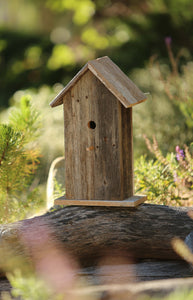 Handcrafted rustic reclaimed barnwood bird house, this birdhouse is made from barn wood