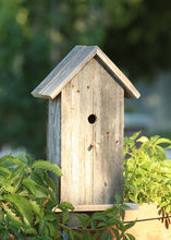 Load image into Gallery viewer, Handcrafted rustic reclaimed barnwood bird house, this birdhouse is made from barn wood