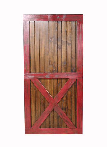 Handcrafted modern rustic wood barn door