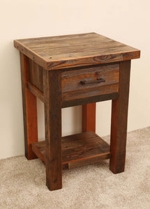 Gorgeous handcrafted solid wood modern rustic nightstand. Made in the U.S.A. from re-claimed barn wood. Very classy and comfortable. Will go great next to any bed in any bedroom.