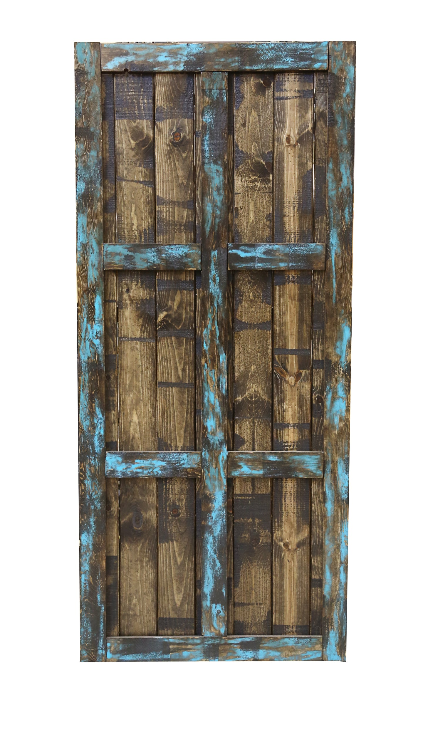 Dark Chocolate & Turquoise Barn Door