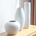 White Ceramic Table Vases - lovedécorart
