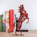 Metal Woven Jump Horse Sculpture - lovedécorart