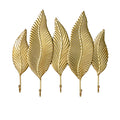 Simple Golden Leaf Hook - lovedécorart