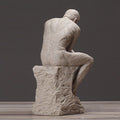 Sandstone Thinker Character  Sculpture - lovedécorart