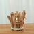 Home Handmade Design Wood Color Candle Holder - lovedécorart