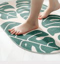 Oval Leaf Front Door Rugs - lovedécorart